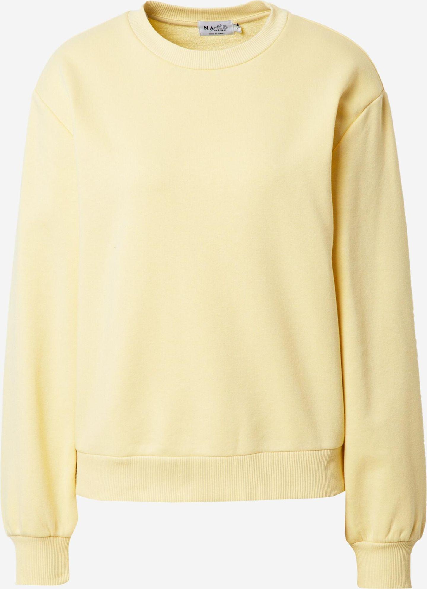 Egal ob im Homeoffice, auf der Couch oder beim Einkaufen – diesen coolen Sweater von NA-KD ziehen wir am liebsten gar nicht mehr aus. Über About You, etwa 35 Euro.