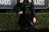 Moderatorin Amy Poehler glänzt in diesem Jahr im Latex-Look.