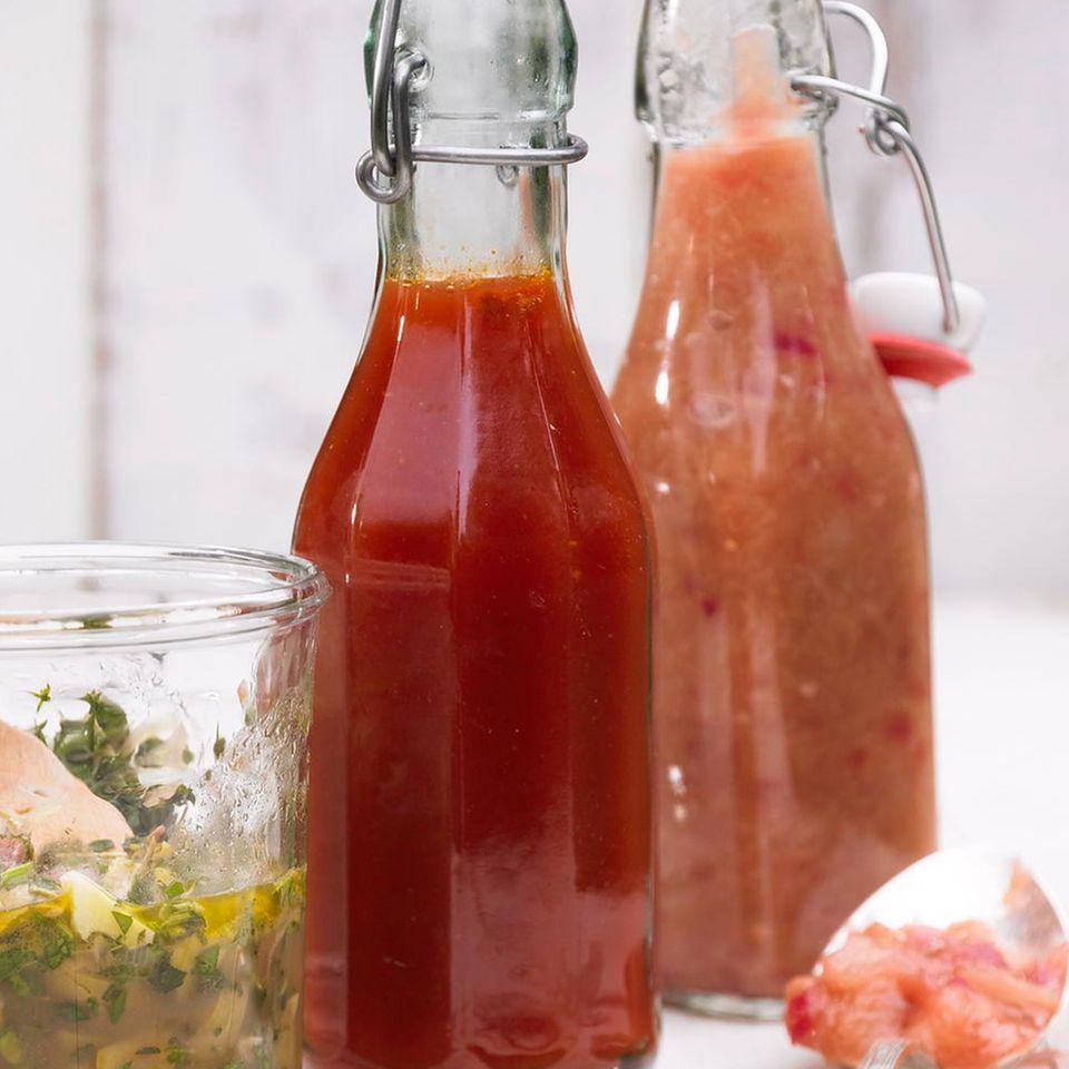Ketchup mit Himbeeren