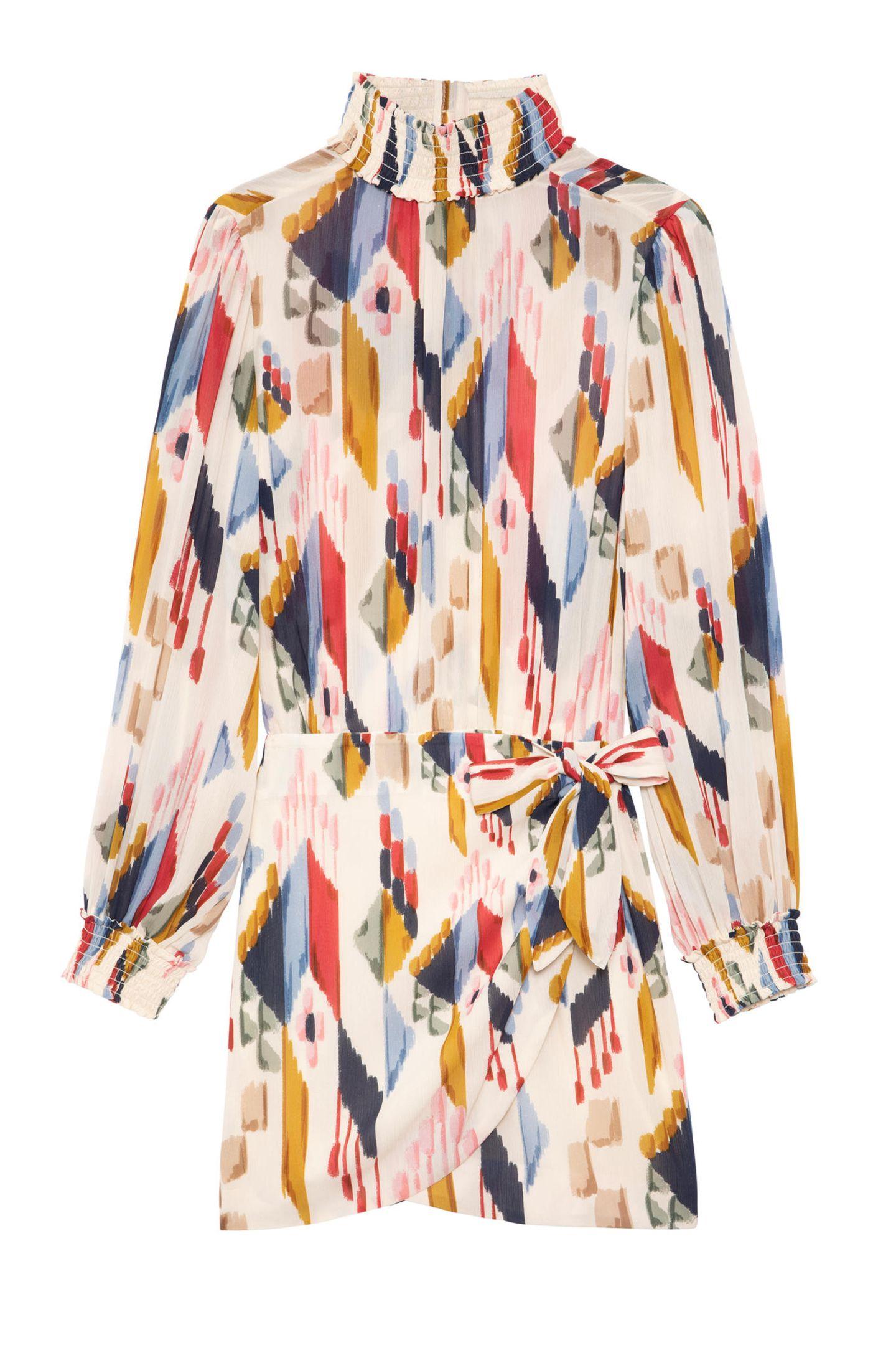 Wildes Muster, fließender Schnitt und luftiges Material - dürfen wir vorstellen: Das perfekte Sommerkleid! Von Sézane, ca. 145 Euro.