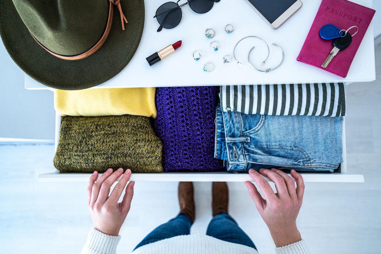 Sachen verlegen: Klamottenkommode