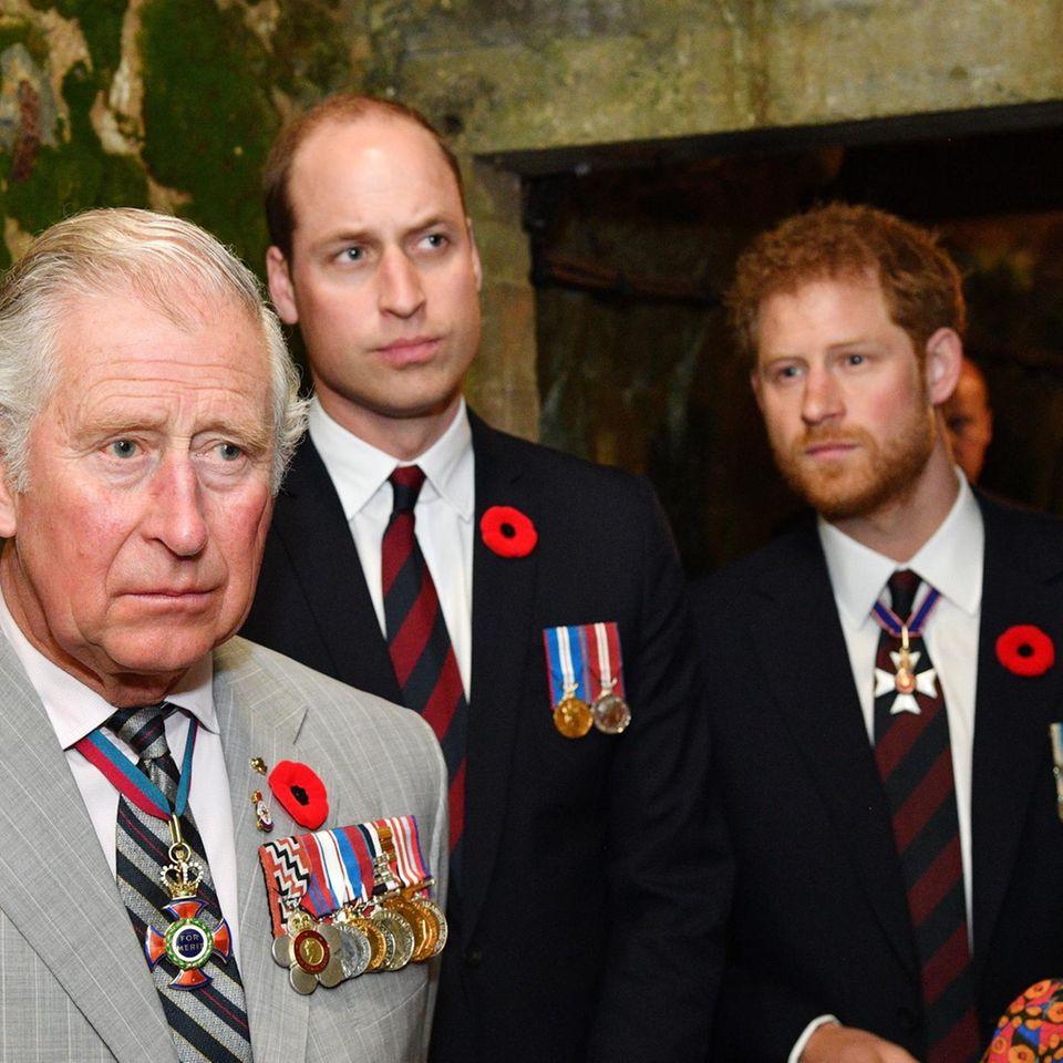 Prinz Charles, Prinz William und Prinz Harry