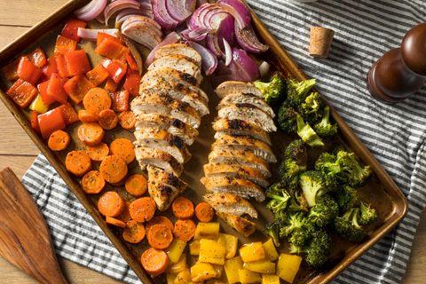 One-Sheet-Pan: Gemüse und Fleisch auf einem Backblech