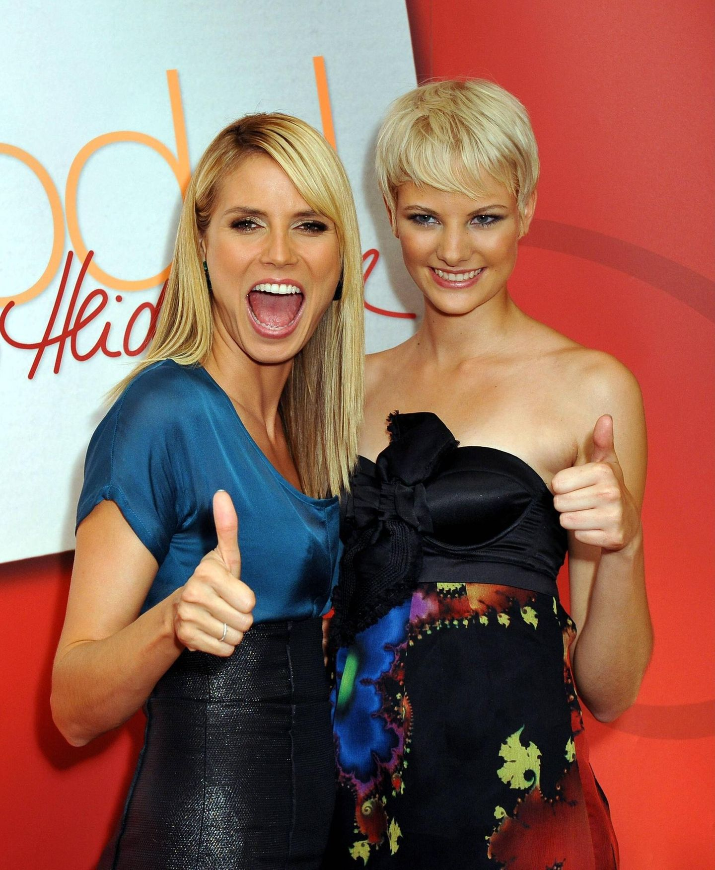 GNTM: JenniferHof mit Heidi Klum
