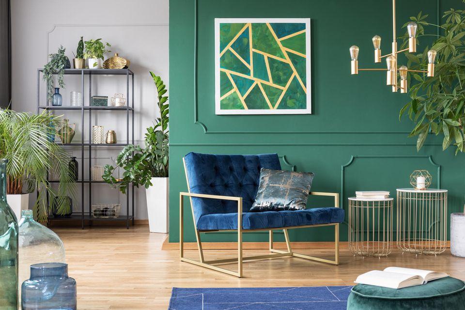 Einrichtungsstile: Die beliebtesten Looks für euer Zuhause, Glamouröses Wohnzimmer