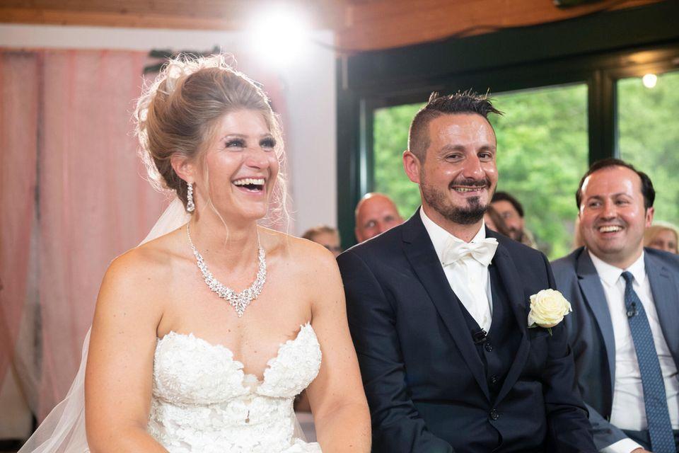 Hochzeit auf den ersten Blick: Samantha und Serkan auf der Hochzeit