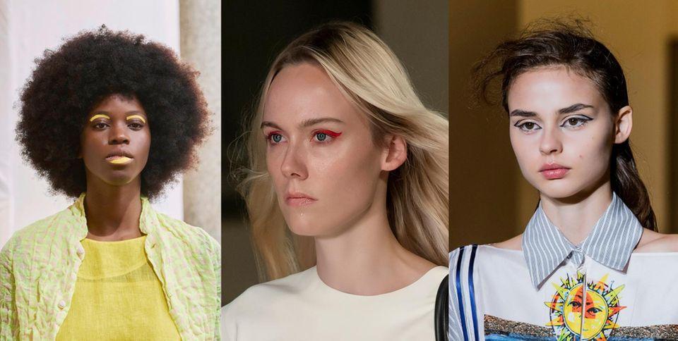 Daniela Gregis, Salvatore Ferragamo und Francesca Liberatore in Mailand setzten auf Augen-Make-ups, die wir so schnell nicht vergessen werden.
