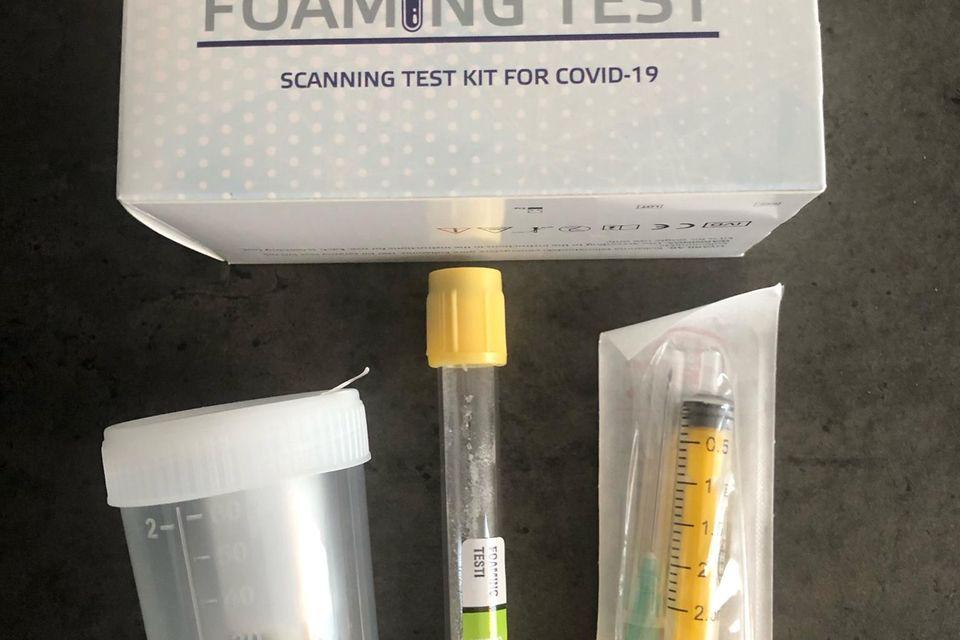 Corona-Selbsttest: Foaming Test