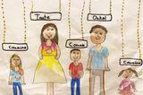 Kinder malen: Verwandte werden vermisst