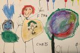 Kinder malen: Schwangere und Kids