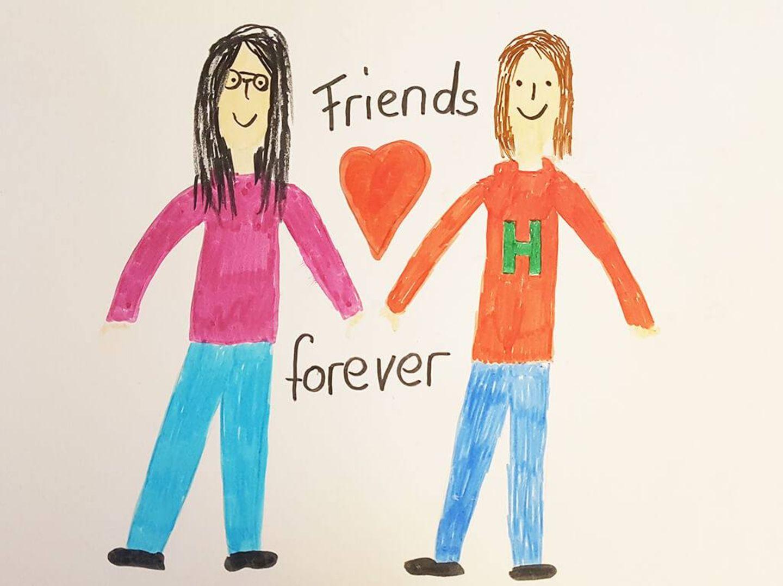 Kinder malen: Freundschaft