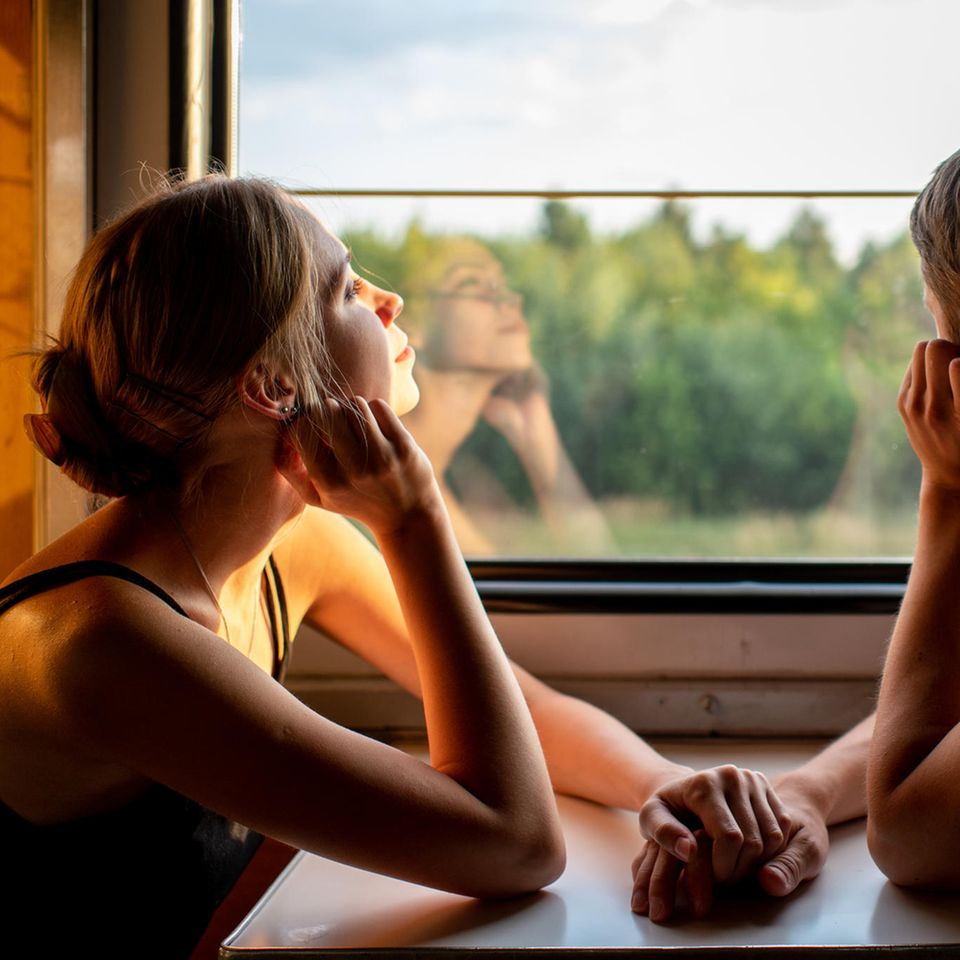 Psychologie: Paar im Zug