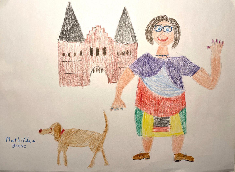 Kinder malen: Mathilda und Benno