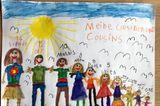 Kinder malen: Treffen mit den Cousins