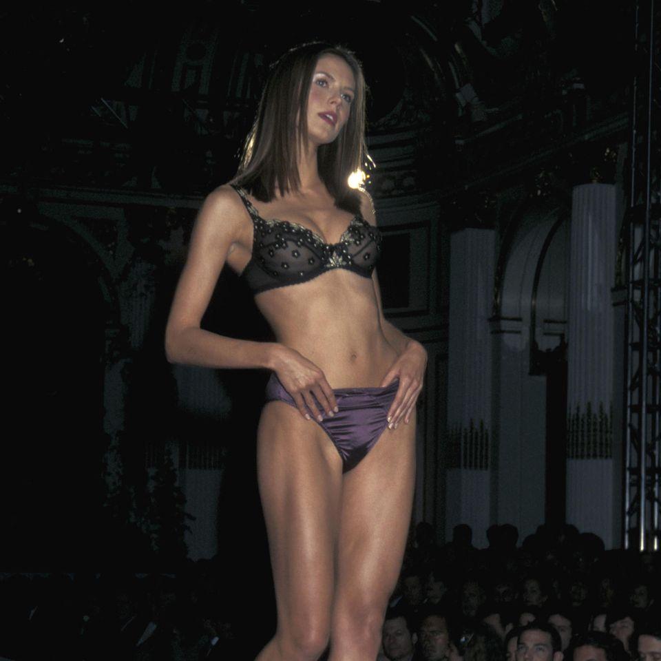 Heidi Klum: Unterwäsche-Training zu Beginn ihrer Karriere