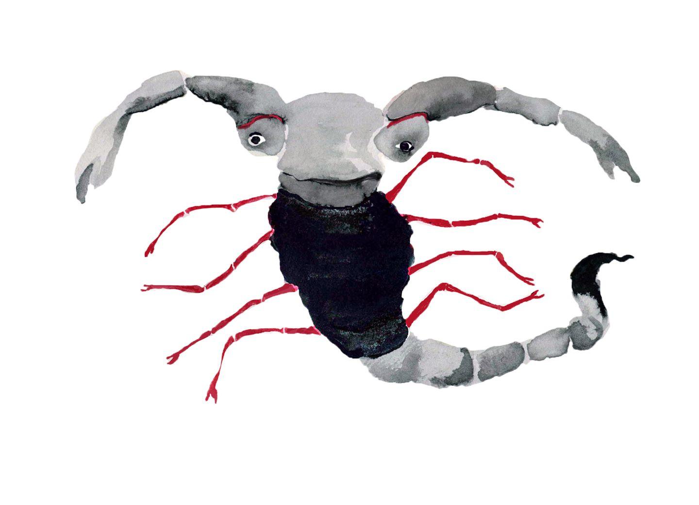 Illustration Sternzeichen Skorpion