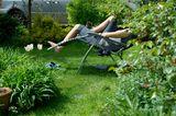 Frau Liege Garten wgträumen