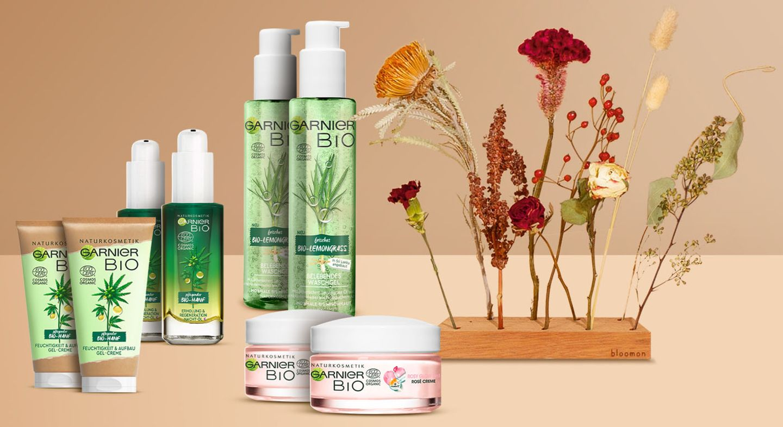 Gewinnspiel: Garnier Bio Pflegeserie mit Rosy Glow 3in1 Rosé Creme & Flowergram zum Muttertag