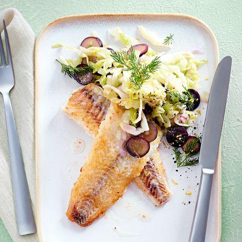 Seelachs auf Trauben-Spitzkohl