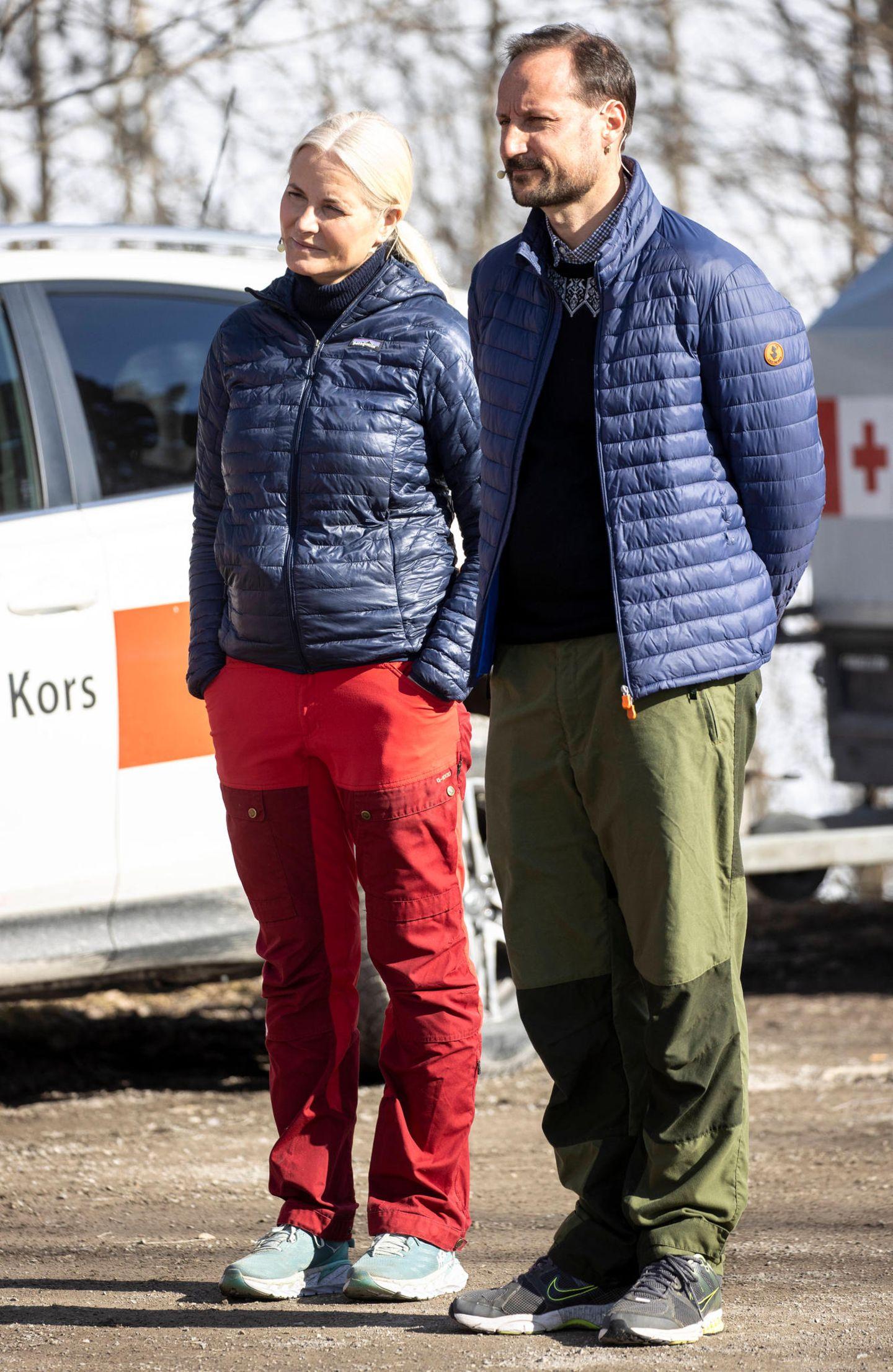 Stars im Partnerlook: Prinz Haakon und Mette-Marit von Norwegen im Partnerlook