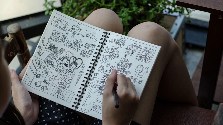 Doodles zeichnen Vorlagen und Ideen zum Nachmachen   BRIGITTE.de