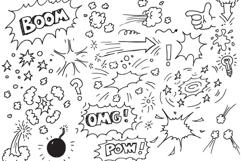 Doodles zeichnen: Comic Zeichnungen