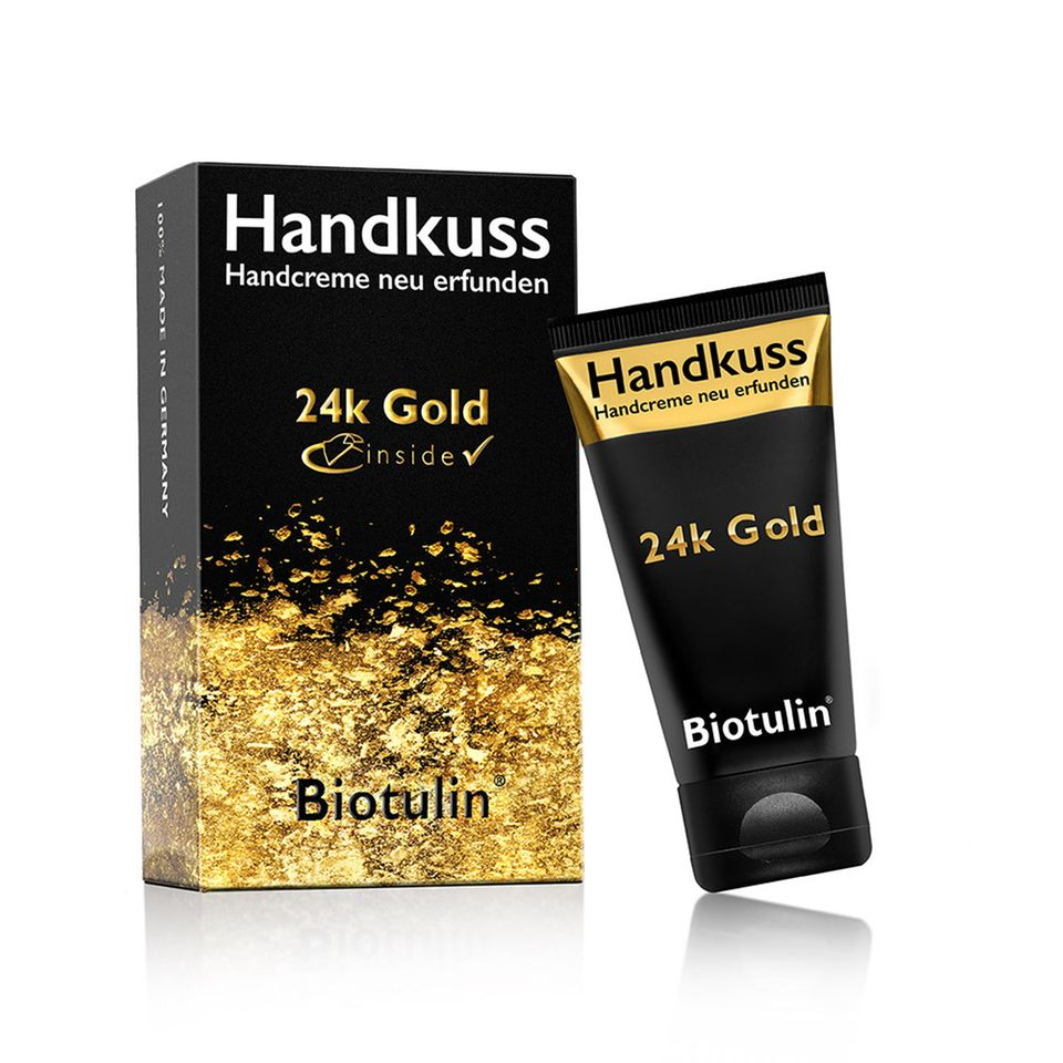 Handkuss Handcreme von Biotulin mit 24k Gold