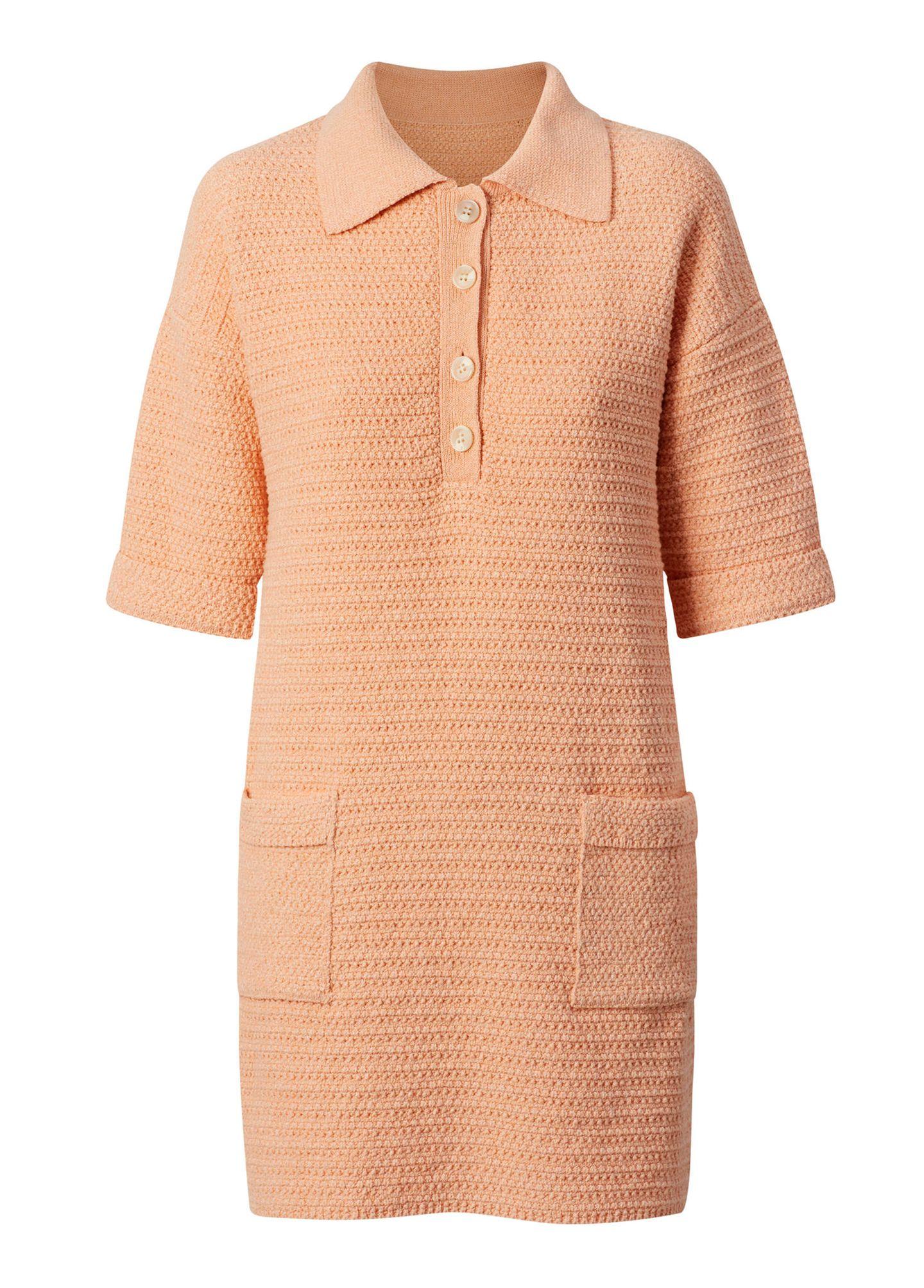 Dürfen wir vorstellen? Das perfekte Frühlingskleid. Nicht nur die stylishe Farbe, sondern auch der angesagte Polo-Kragen macht das Kleid zum absoluten Hingucker. Von Mango, um die 60 Euro.
