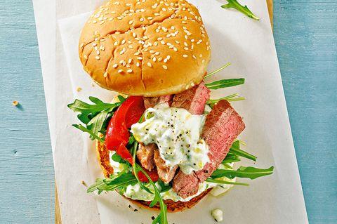 Burger mit Lammsteak