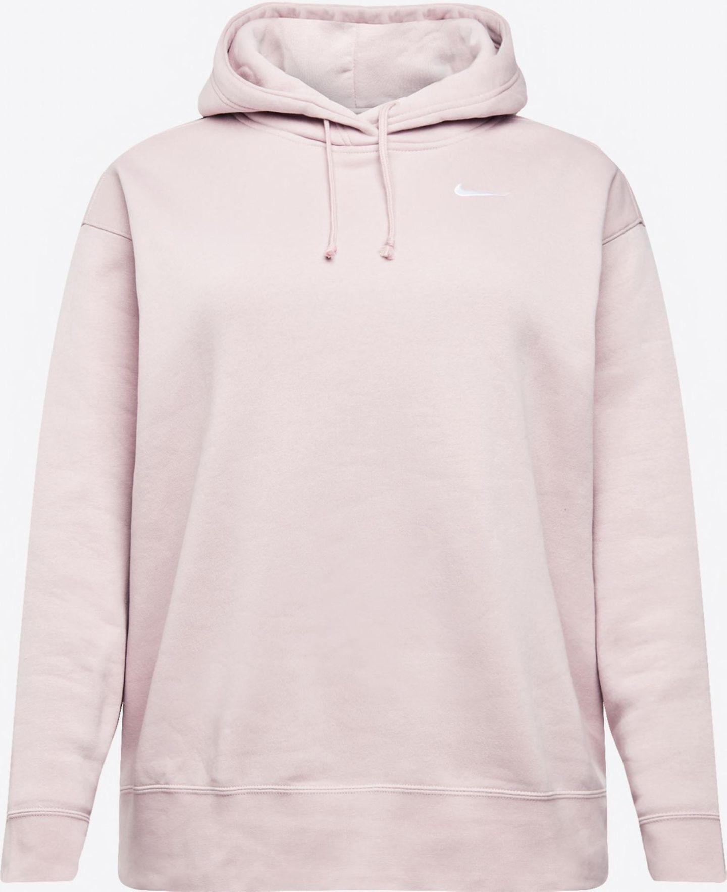 Im letzten Jahr haben wir Hoodies nicht nur lieben gelernt, wir können jetzt gar nicht mehr ohne. Diese lässige Variante von Nike kombinieren wir zu Basic-Jeans. Und schon steht der Look. Über About You, rund 55 Euro.