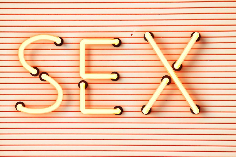 Schriftzug Sex