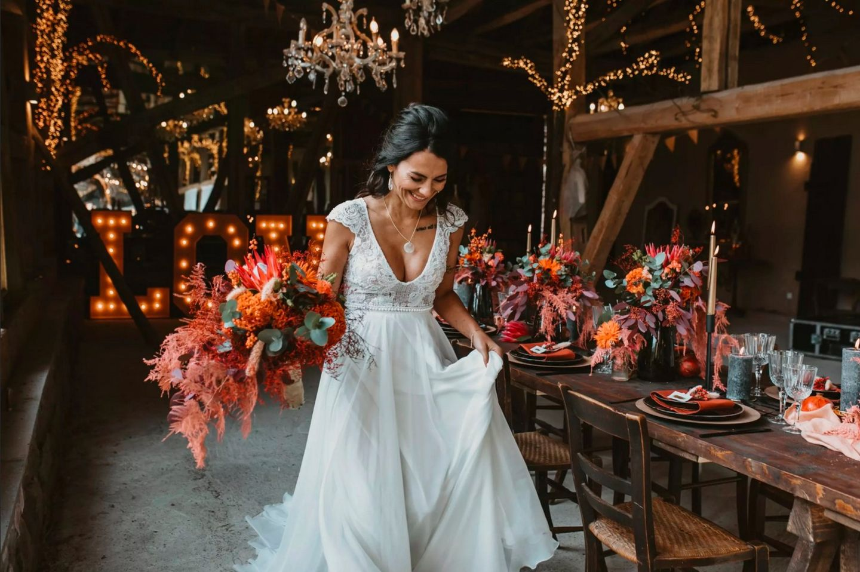 Wedding Award: Braut mit Blumen