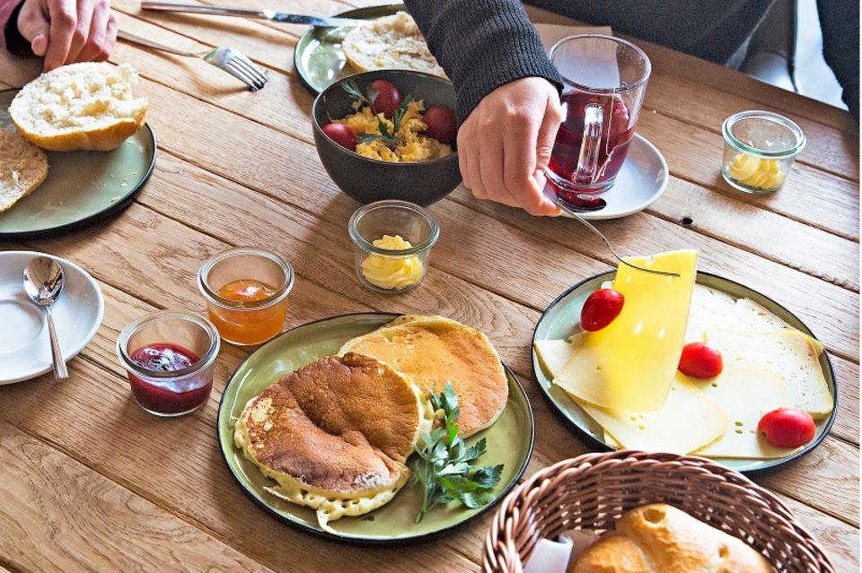 Camping am Bodensee: Frühstück