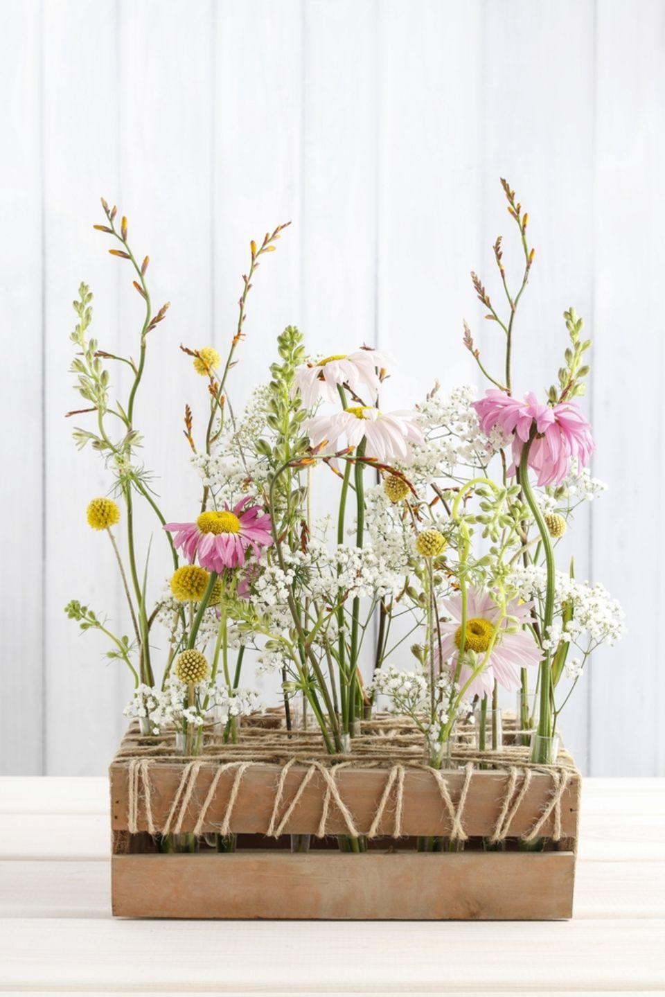 Frühlingsdeko basteln: Frühlingsblumen