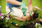 Bewegung ab 60: Frau beim Gärtnern