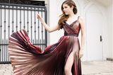 Glamour pur –Anna Kendrickschaltet sich von Los Angeles aus zu den BAFTA Awards. Ihre traumhafte Robe ist von dem CouturierZuhair Murad.