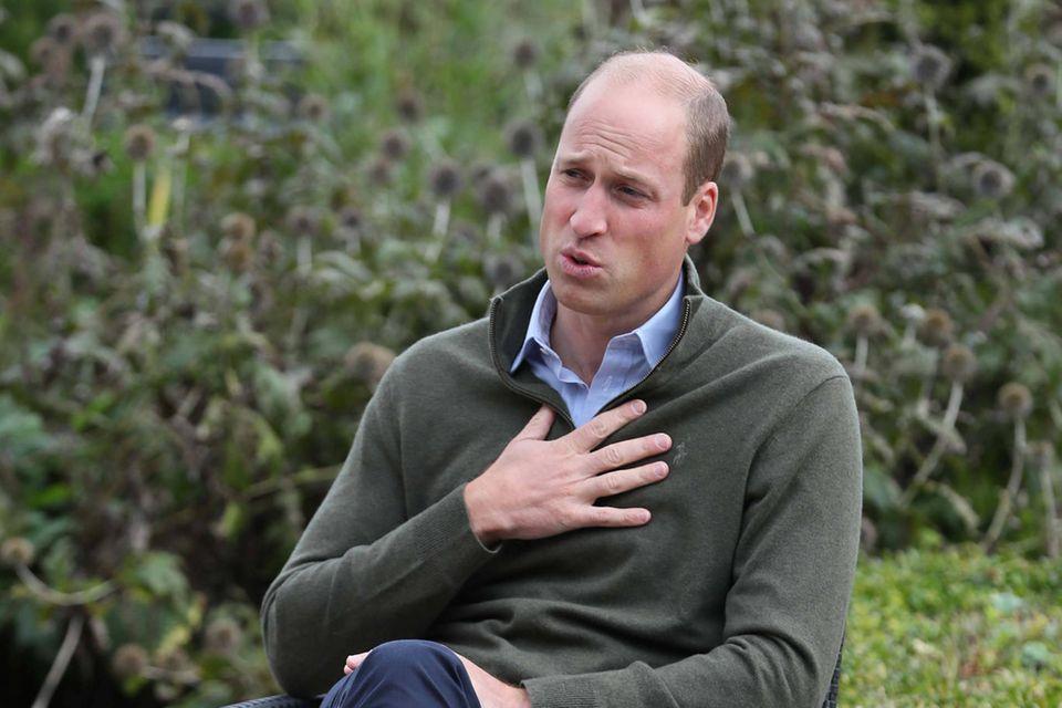 Prinz William: Liebevolle Abschiedsworte an Prinz Philip: Prinz William im Sitzen