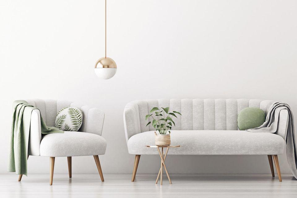 Deko-Trend: Sessel und Sofa mit runden Kissen