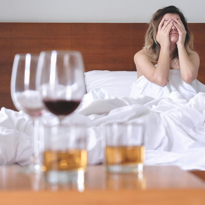 Flecken nach alkohol rote Wie es