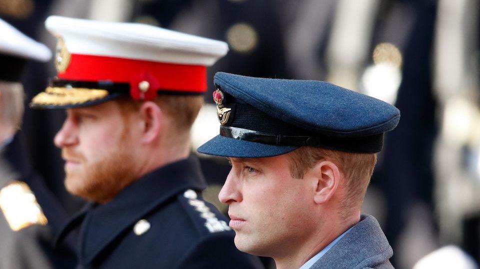 William und Harry: Nicht Seite an Seite bei Trauerfeier