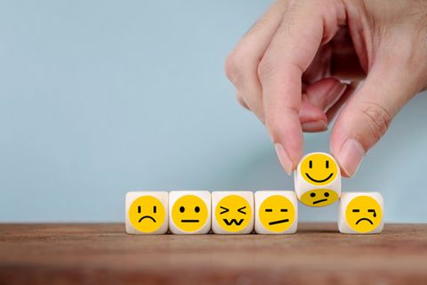 Positiver Stress: Smileys