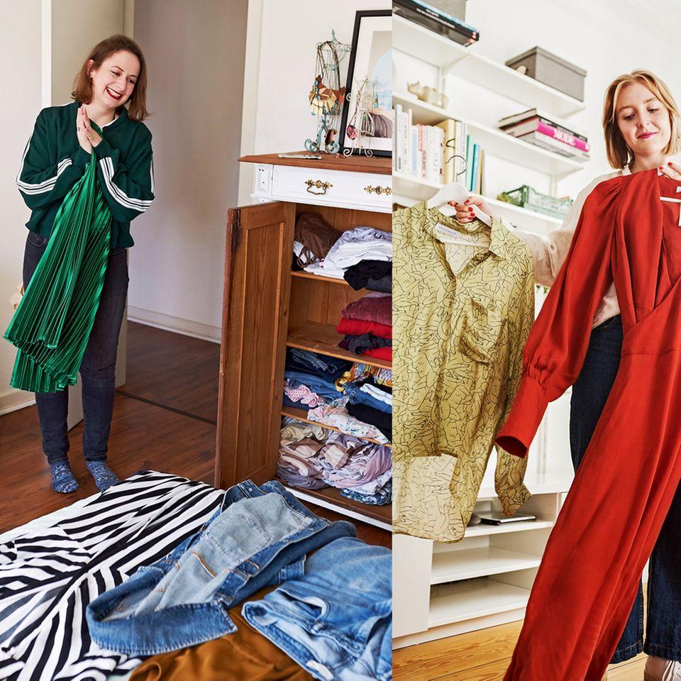 Kleidung kombinieren: Sina und Alexandra