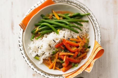 Frühlingsgemüse: Thai Red Curry