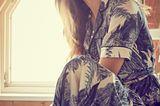 Frühlingskleider: Seventies-Kleid im Kimono-Stil