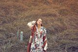 Frühlingskleider: Dreifarbiger Trenchcoat mit Lederpatches