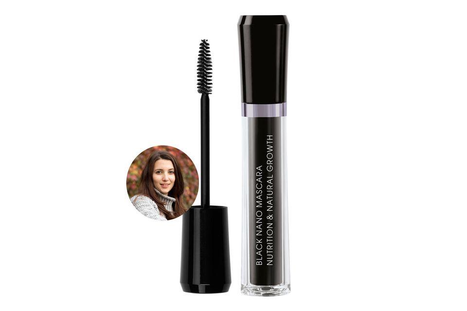 """Beauty-Redakteurin Ilka träumt von langen voluminösen Wimpern und testet deshalb die """"Black Nano – Nutrition & Natural Growth"""" Mascara von M2 Beauté."""