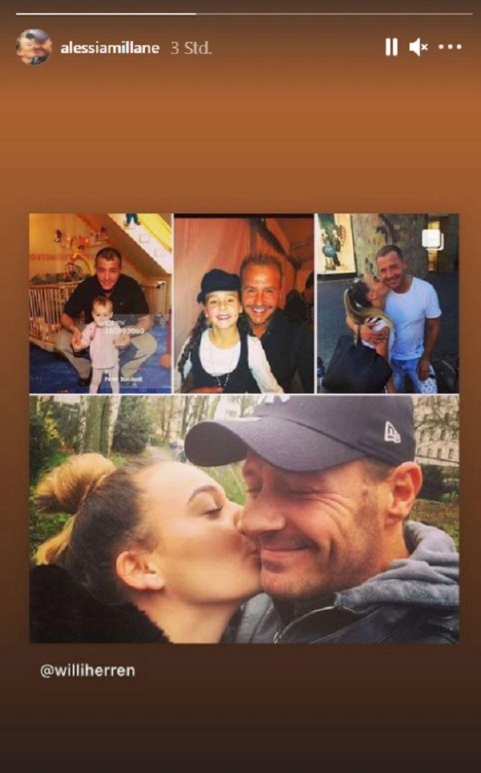 Willi Herren: Tochter Alessia verabschiedet ihn mit rührender Fotocollage: Screenshot der Fotocollage von Instagram