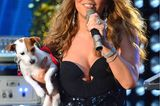 Haustiere: Mariah Carey mit Jack Russell Terrier