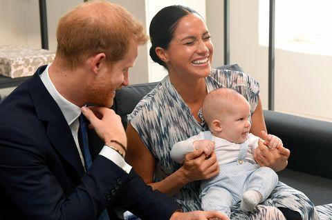 Herzogin Meghan: Unterwegs mit Archie! Vier Details fallen auf: Harry, Meghan und Archie bei einem offziellen Termin 2019