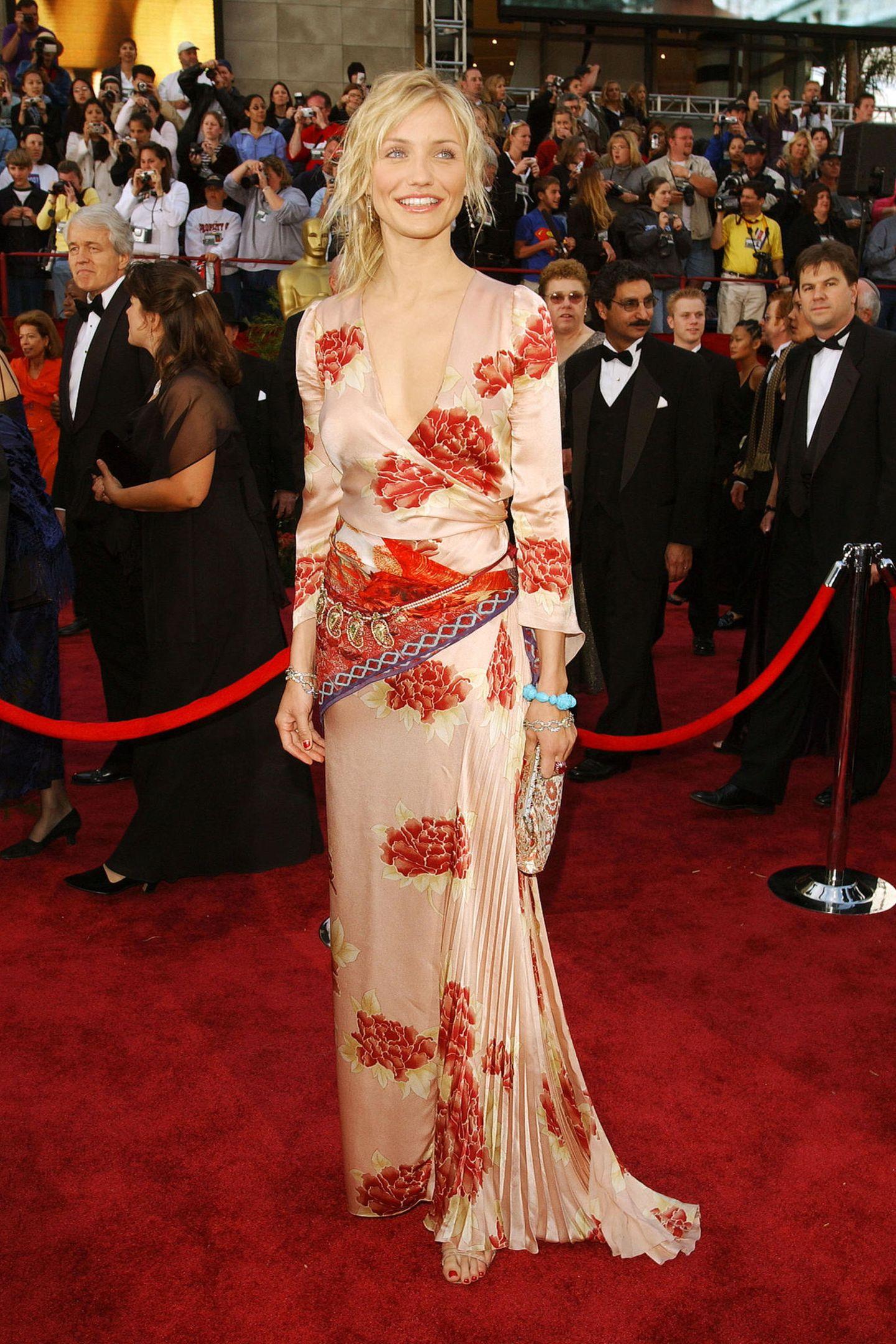 Schlimme Oscar-Looks: Cameron Diaz 2002